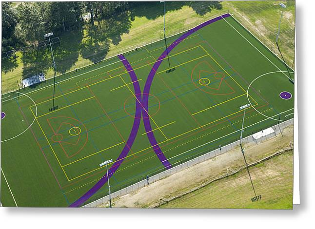 Lacrosse Field, University Greeting Card by Andrew Buchanan/SLP