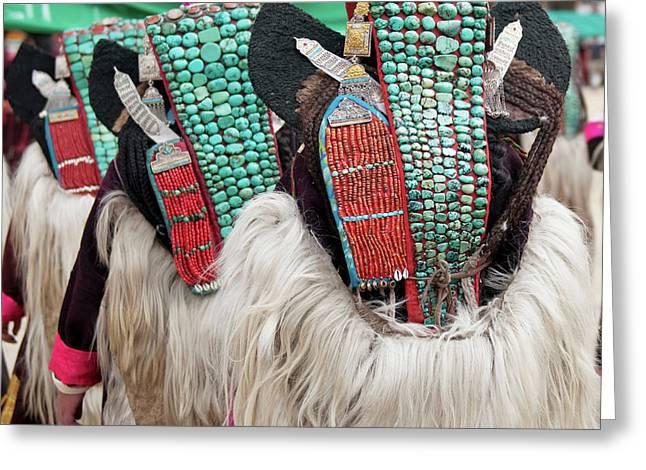 Ladakh, India Married Ladakhi Women Greeting Card