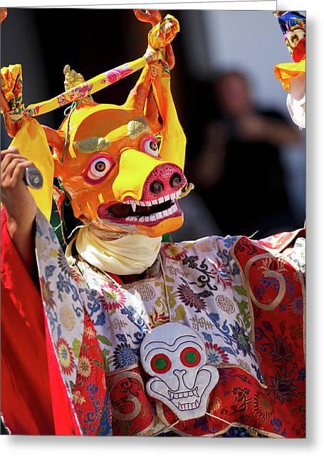 Ladakh, India The Ceremonial Masked Greeting Card by Jaina Mishra