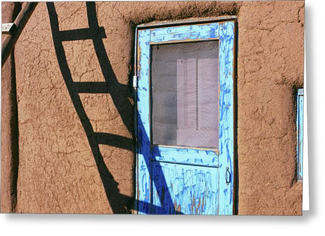 Ladder Leaning Against A House, Taos Greeting Card by Panoramic Images