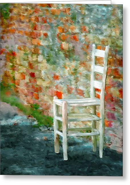 Ladder Back Chair Greeting Card