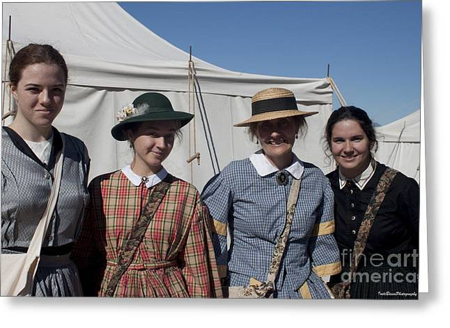 Ladies From The Civil War Reenactment Greeting Card by Ivete Basso Photography