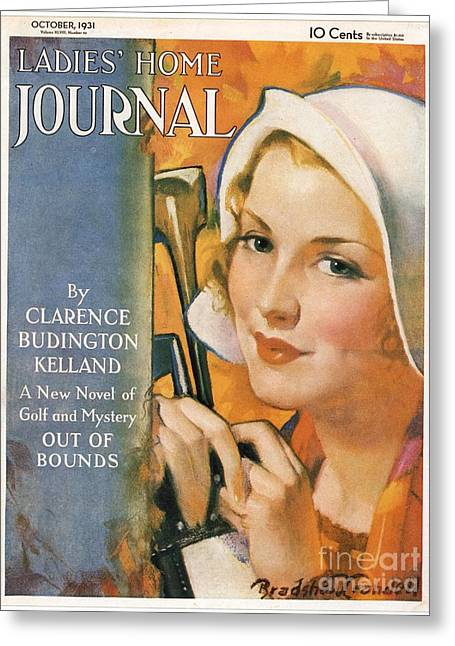 Ladies Home Journal 1930s Usa Golf Greeting Card by The Advertising Archives