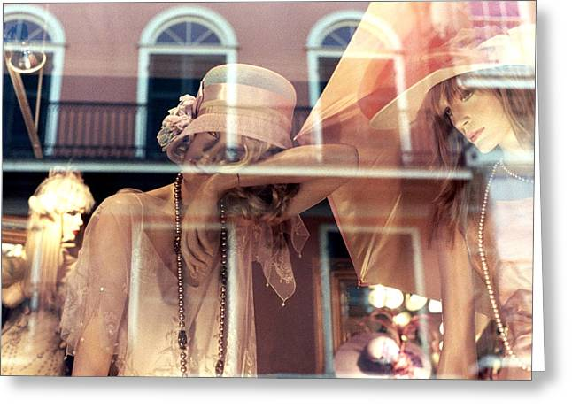 Greeting Card featuring the photograph Ladies Of The French Quarter by Nadalyn Larsen