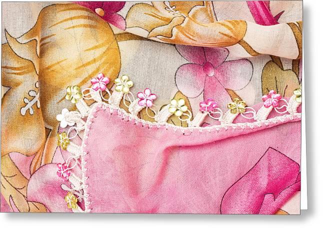 Ladies' Scarf Greeting Card by Tom Gowanlock