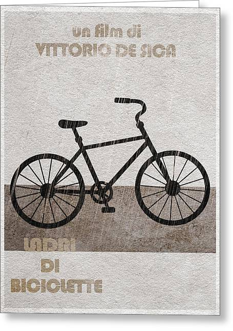 Ladri Di Biciclette Greeting Card by Ayse Deniz