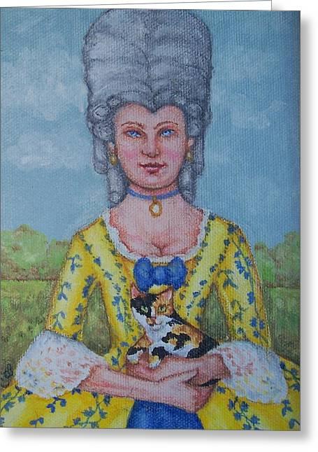 Lady Abigail Greeting Card by Beth Clark-McDonal
