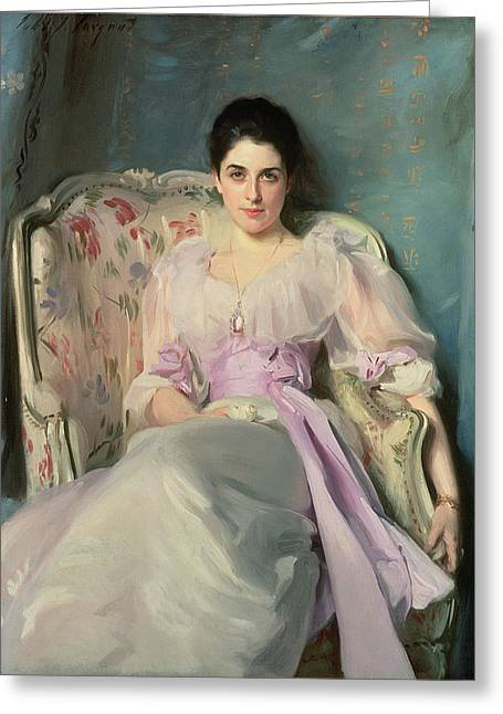 Lady Agnew Of Lochnaw, C.1892-93 Oil On Canvas Greeting Card