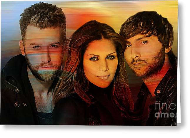 Lady Antebellum Greeting Card by Marvin Blaine
