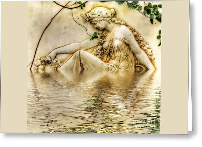 Lady Bathing 2 Greeting Card