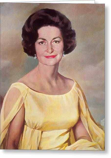 Lady Bird Johnson, First Lady Greeting Card by Science Source