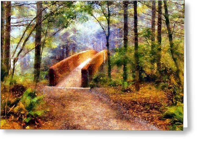 Lady Bird Johnson Grove Bridge Greeting Card by Kaylee Mason