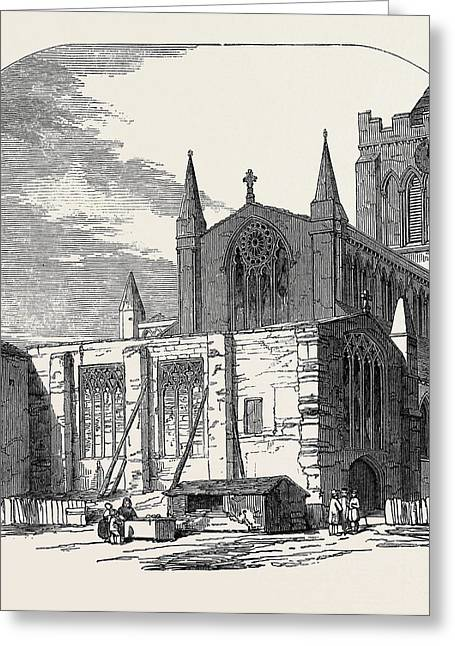Lady Chapel Of Hexham Church, Proposed For Restoration Greeting Card