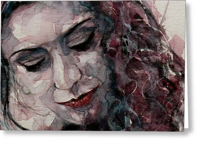 Lady D'arbanville Greeting Card by Paul Lovering