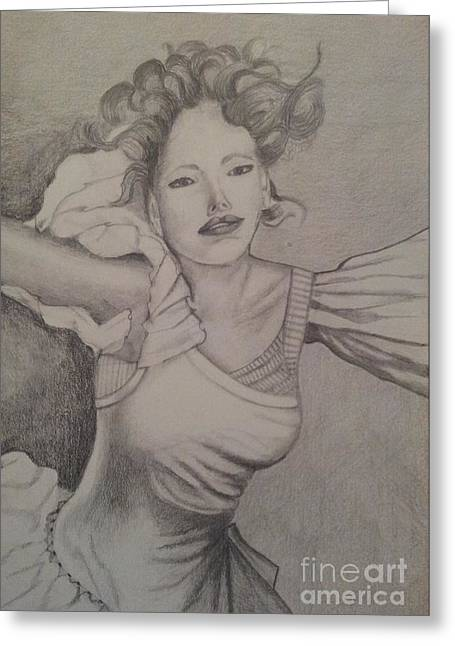 Lady Greeting Card by Debra Piro