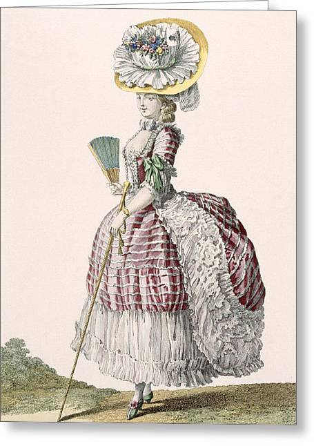 Lady Dressed In A Polonaise Style Greeting Card