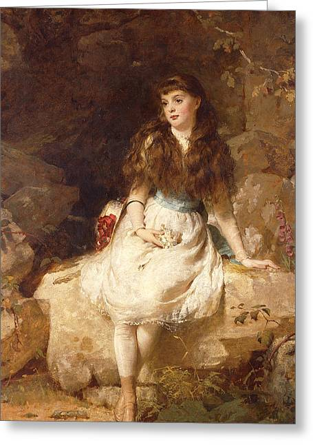Lady Edith Amelia Ward Daughter Of The First Earl Of Dudley Greeting Card