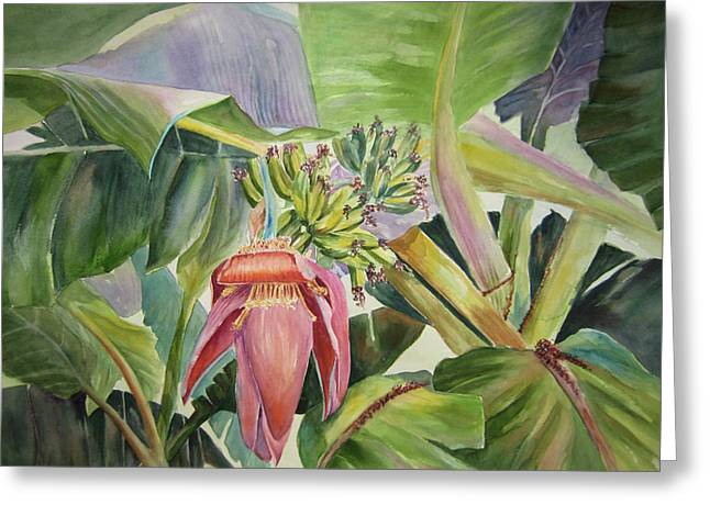 Lady Fingers - Banana Tree Greeting Card