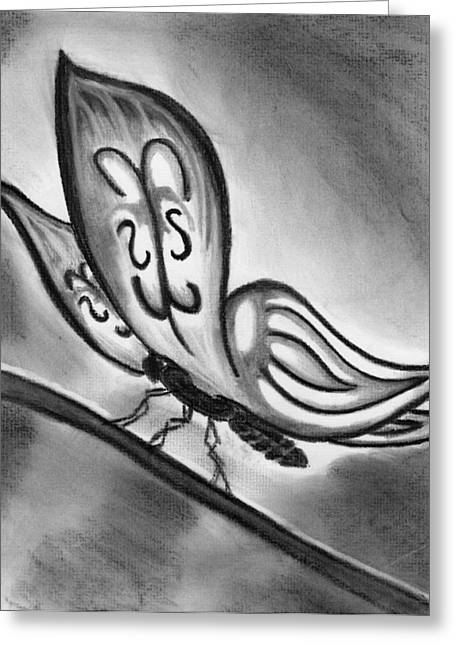 Lady Ghostwing Greeting Card by Angie Brown