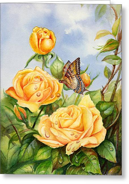Lady Hillington Tea Rose Greeting Card
