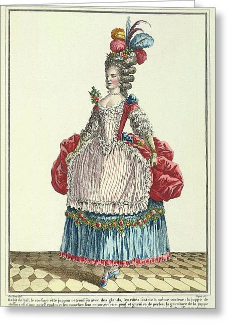 Lady In A Ball Dress Greeting Card by British Library