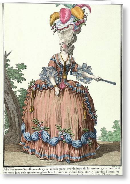 Lady In A Circassian Dress Greeting Card by British Library