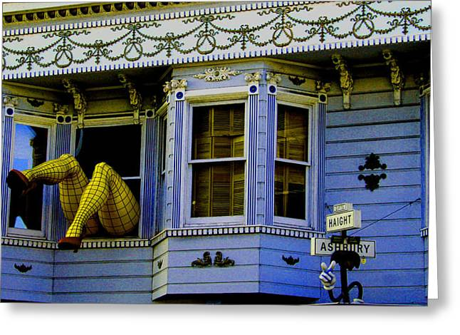 Lady In A Window Greeting Card