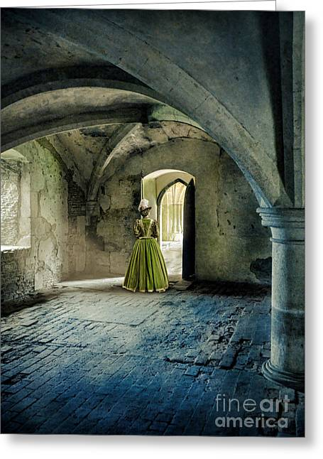 Lady In Abbey Room Greeting Card