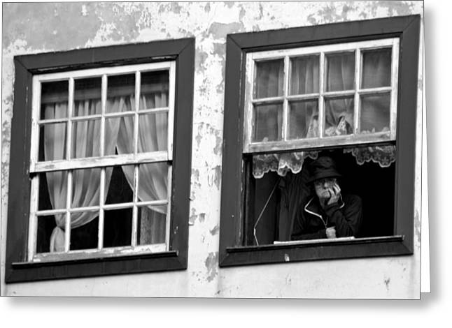 Lady In The Window II Greeting Card by Dave Dos Santos