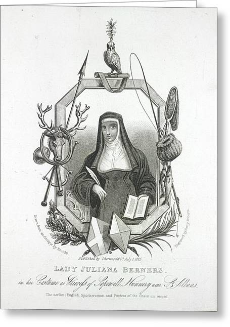 Lady Juliana Berners Greeting Card by British Library