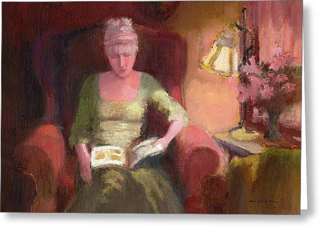 Lady Laura Greeting Card by J Reifsnyder