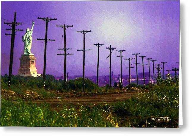 Lady Liberty Lost Greeting Card