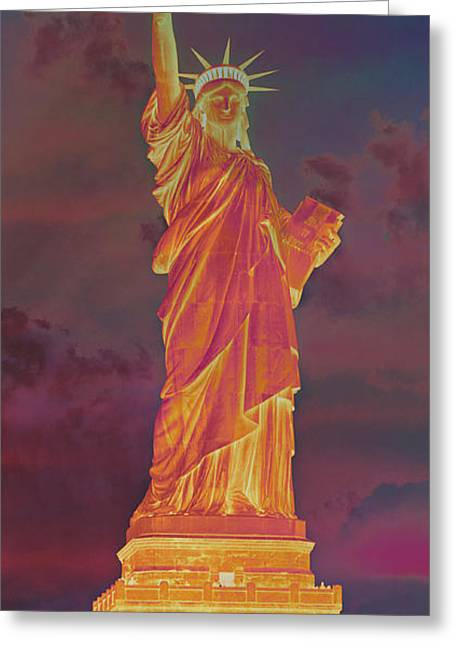 Lady Liberty No 8 Greeting Card by Stephen Stookey