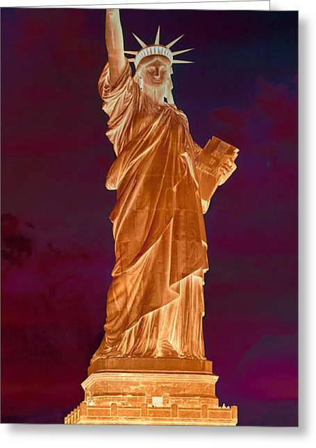 Lady Liberty No 9 Greeting Card