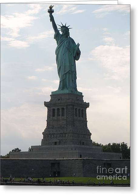 Greeting Card featuring the photograph Lady Liberty by Luther Fine Art