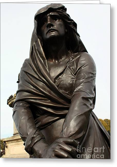 Lady Macbeth In Stratford Out Damned Spot  Greeting Card by Terri Waters