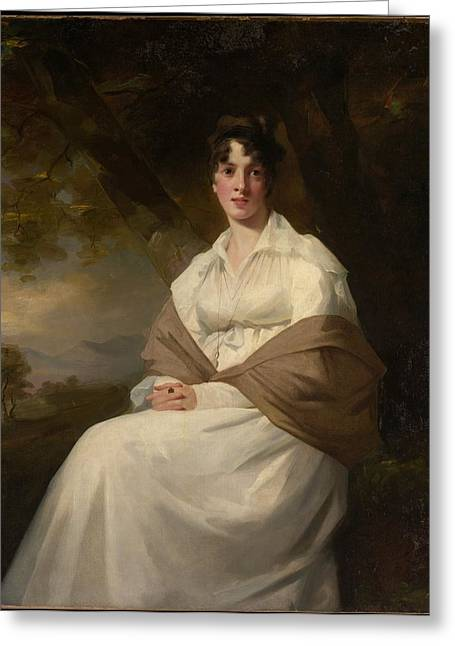 Lady Maitland Catherine Connor, Died Greeting Card by Sir Henry Raeburn