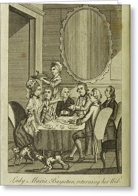 Lady Maria Bayntun Greeting Card by British Library