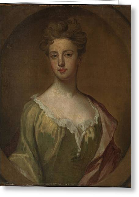 Lady Mary Berkeley, Wife Of Thomas Greeting Card by Sir Godfrey Kneller