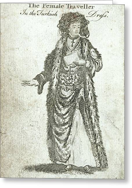 Lady Mary Wortley Montagu Greeting Card by British Library
