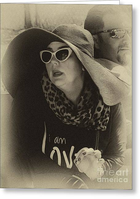 Lady Of Fashion Greeting Card by Rene Triay Photography