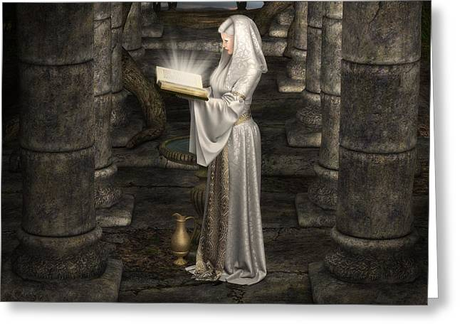 Lady Of Light Greeting Card