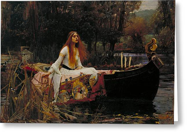 Lady Of Shalott Greeting Card by John William Waterhouse