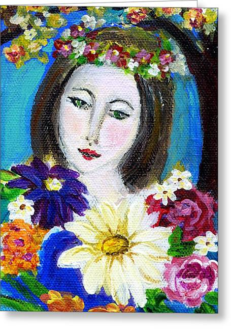 Lady Of Spring Greeting Card