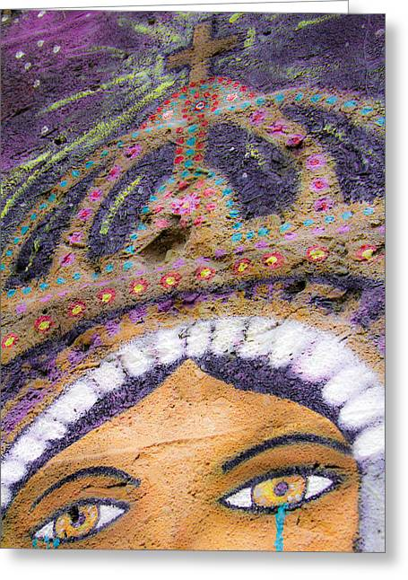 Greeting Card featuring the photograph Lady Of Tears by Steven Bateson