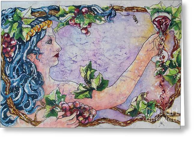 Lady Of The Vine Greeting Card