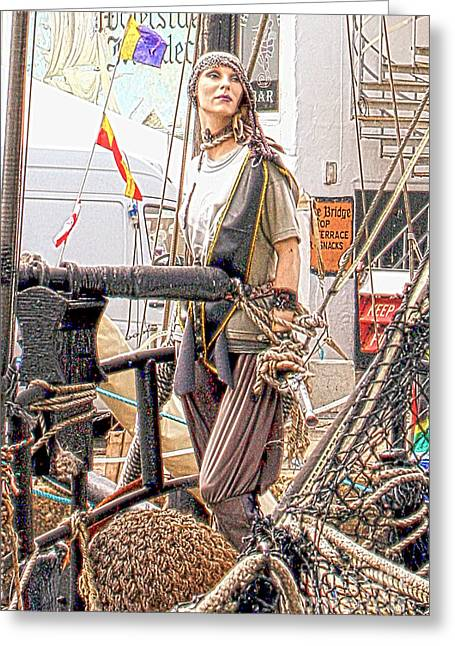 Lady Pirate Of Penzance Greeting Card by Terri Waters