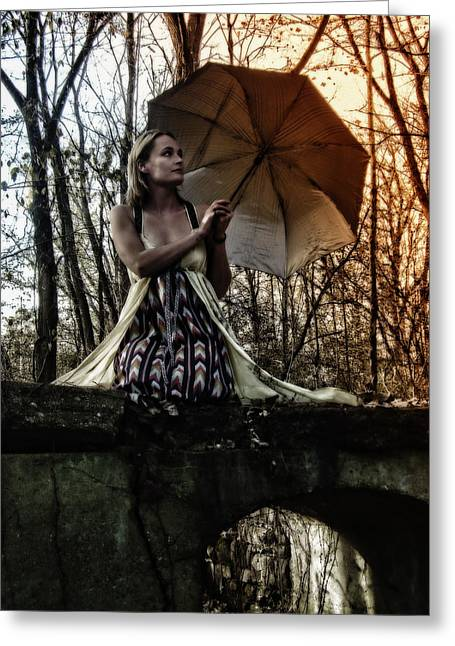 Lady Rain Greeting Card