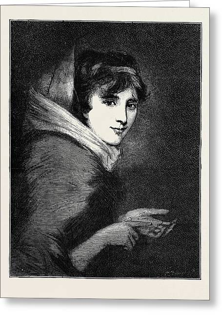 Lady Smith At The Age Of 16 Or 17, Died February 3 Greeting Card by English School