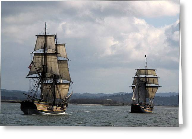 Lady Washington And The Hawaiian Chieftain Greeting Card